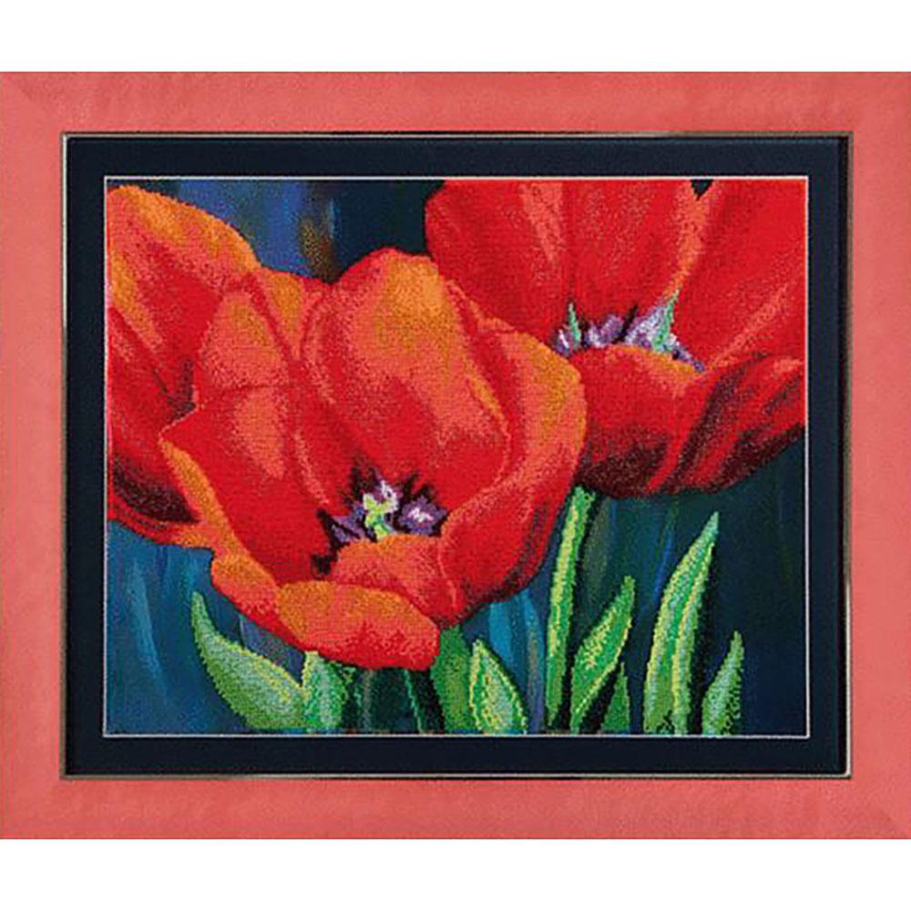 Б-715 Набор для вышивания бисером 'Чарівна Мить' 'Вечерние тюльпаны', 44*35 см