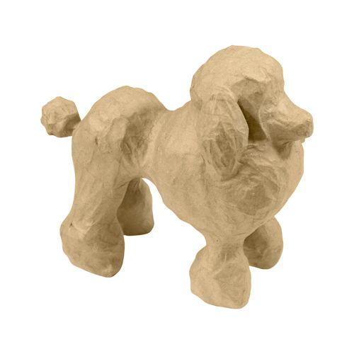 Фигурка из папье-маше, объемная, мал, пудель, 10,5*20,5*18,5 см SA148