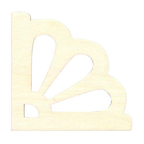 L-184 Деревянная заготовка 'Декоративный элемент уголок 2', 10*10 см, 'Астра'