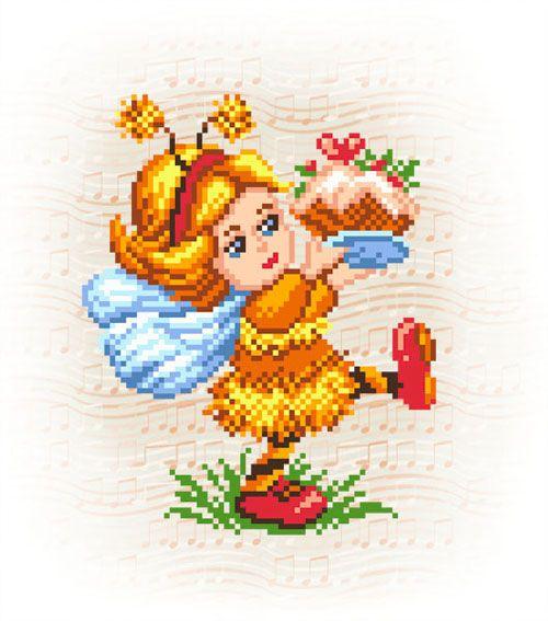 115/Б Набор для вышивания бисером 'Матренин посад' 'Пчёлкино угощение', 28*34 см