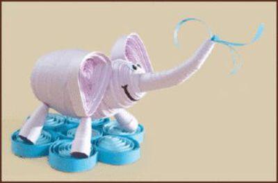 КВ-029 Набор для квиллинга 'Слон' 10*7см