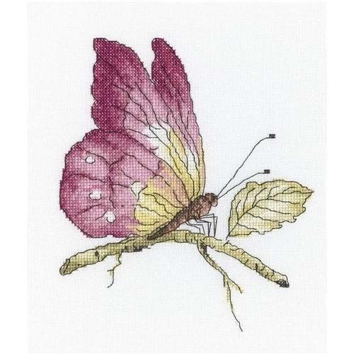 С174 Набор для вышивания RTO 'Хрупкая красота в розовом', 19*19 см