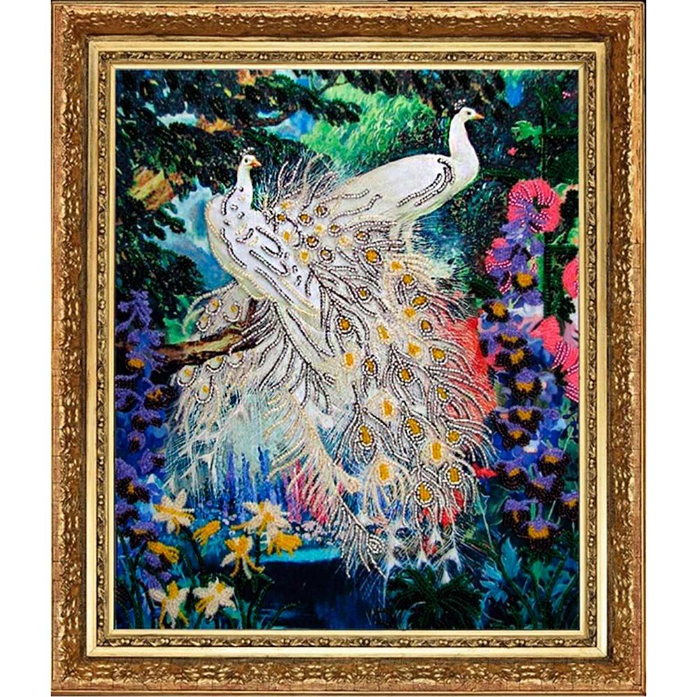 519 Набор для вышивания бисером Butterfly 'Королевские птицы', 32*27 см