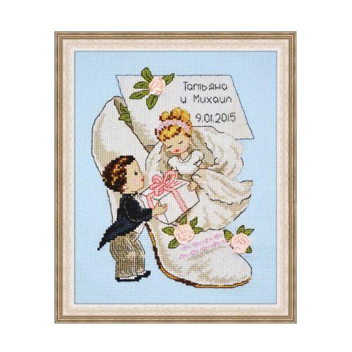 728 Набор для вышивания 'Овен' 'Свадебная метрика 4', 15*20 см