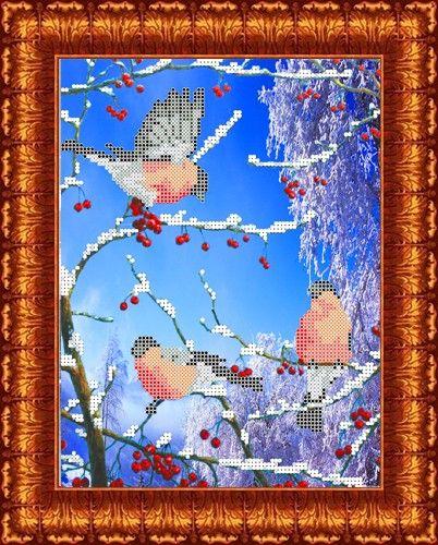 КБЖ-4013 Канва с рисунком для бисера 'Морозное утро', А4