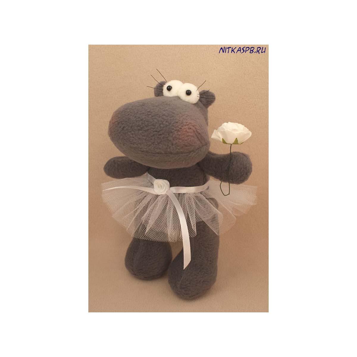 HP001 Набор для изготовления текстильной игрушки 23см 'HIPPO STORY' Бегемотик (Ваниль) фото