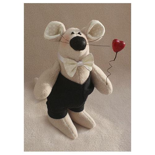 LV002 Набор для изготовления текстильной игрушки 18см 'LOVE STORY' Жених (Ваниль)
