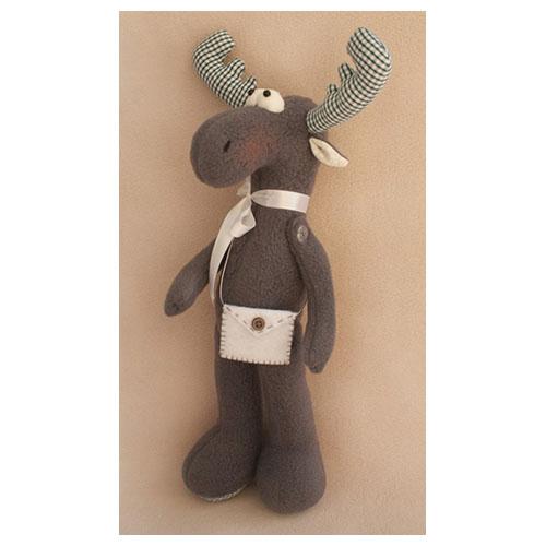 EL001 Набор для изготовления текстильной игрушки 36см 'ELK STORY' Лось (Ваниль)
