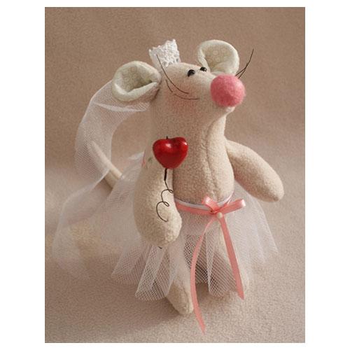 LV001 Набор для изготовления текстильной игрушки 18см 'LOVE STORY' Невеста (Ваниль)