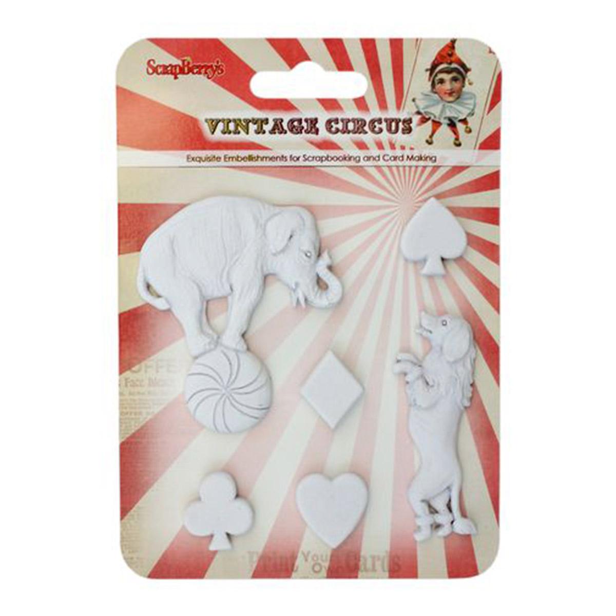 SCB26002010 Набор полимерных фигурок 'Старый цирк. Представление', от 2 до 5,5 см