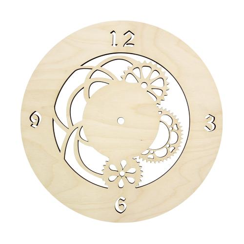 L-216 Деревянная заготовка циферблат 'Шестеренки', 30*30 см, 'Астра'