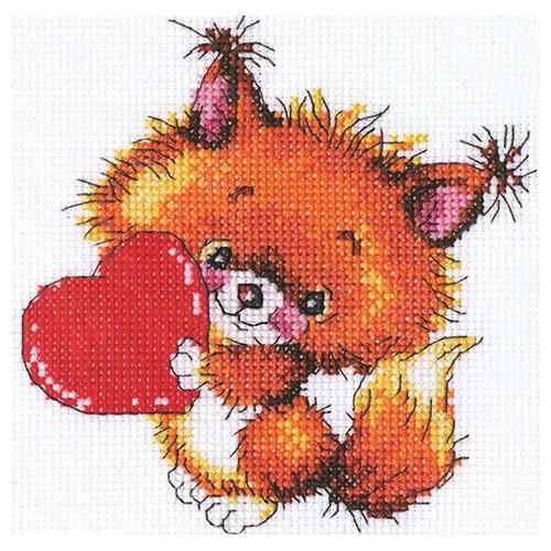 С216 Набор для вышивания RTO 'Доброе сердечко', 14х14 см
