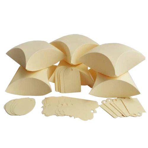 БОН200 Заготовки для бонбоньерок №2 'Подушечка', комплект 6 шт., 8*3,3*8 см