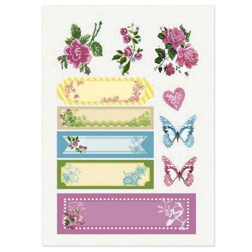 Тканевые стикеры Цветочная вышивка 2, 14*20 см SCB530105