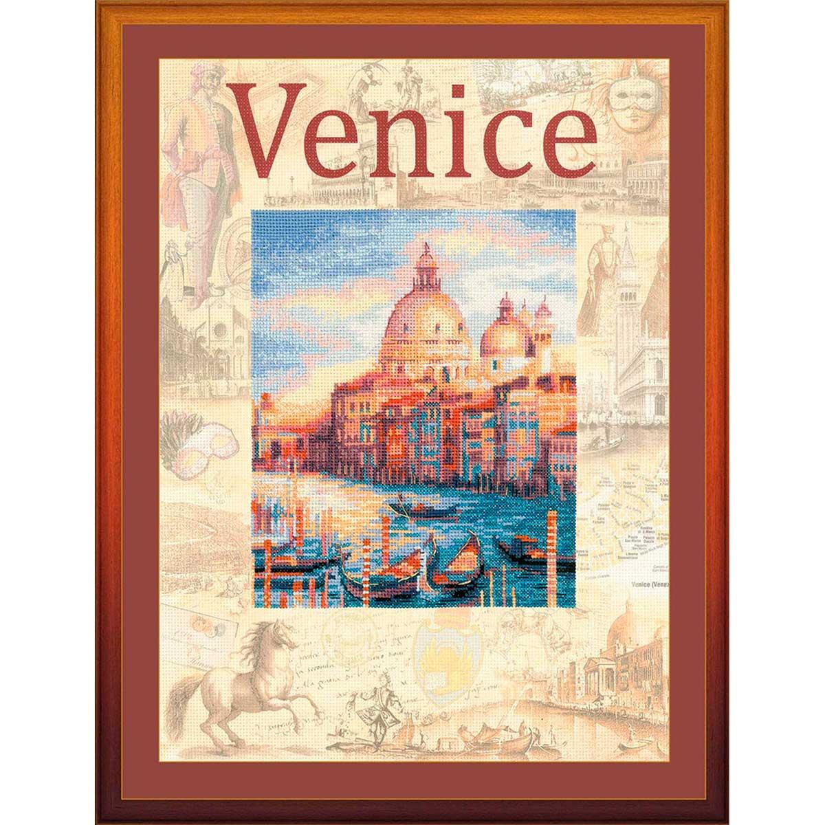 РТ-0030 Набор для вышивания Riolis 'Города мира. Венеция', 30*40 см