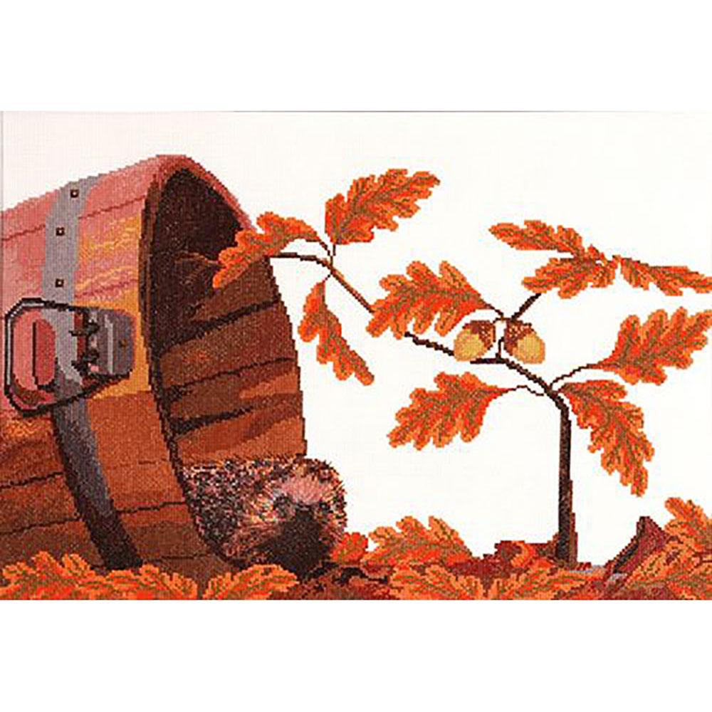 696 Набор для вышивания Hobby&Pro 'Осенний гость', 48*30 см