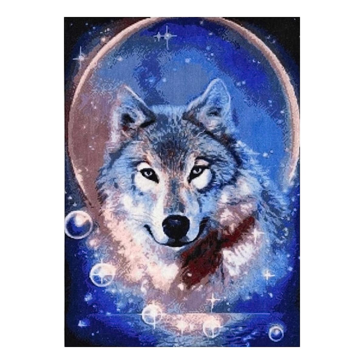 705 Набор для вышивания Hobby&Pro 'Дух волка', 31*43 см