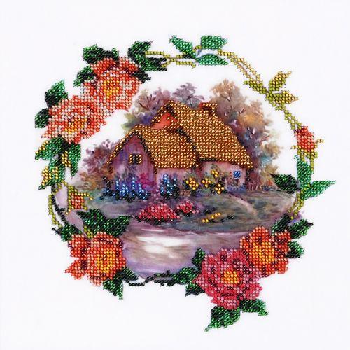 НР-3018 Канва с рисунком для вышивания бисером 'Виньетка' Hobby&Pro 25*25см