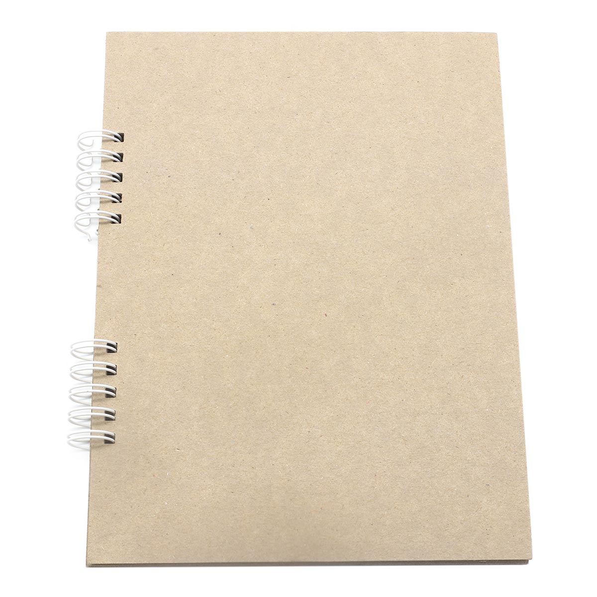 АП001-Б Заготовка для фотоальбома на пружине белой А5, 6 листов