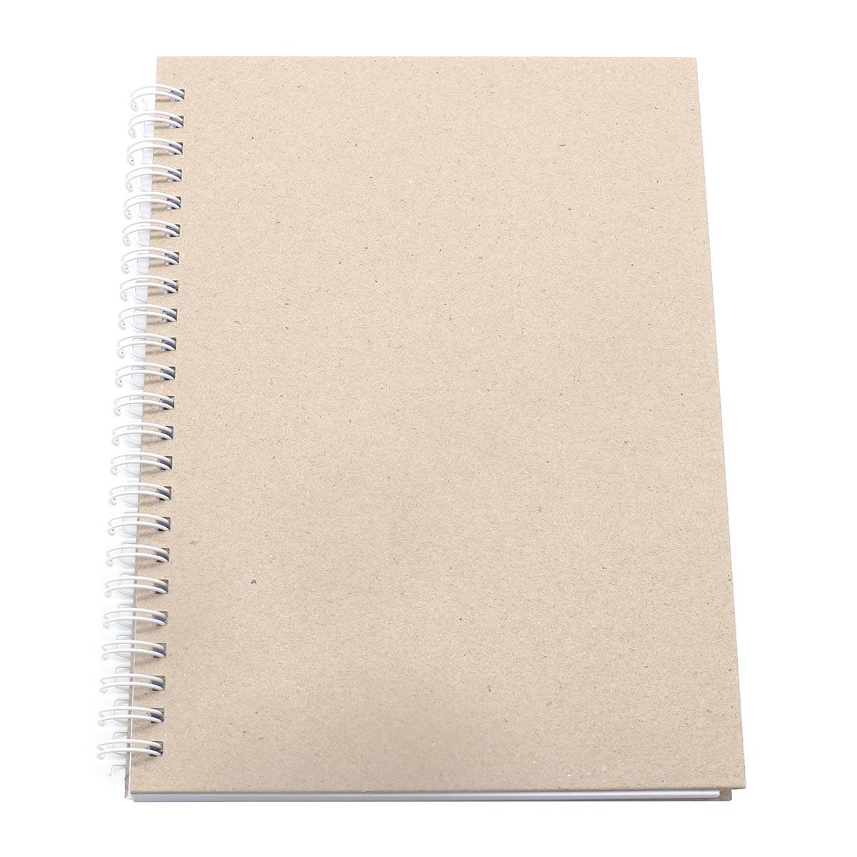 БП001-Б Заготовка для блокнота на белой пружине, А5, 60 листов