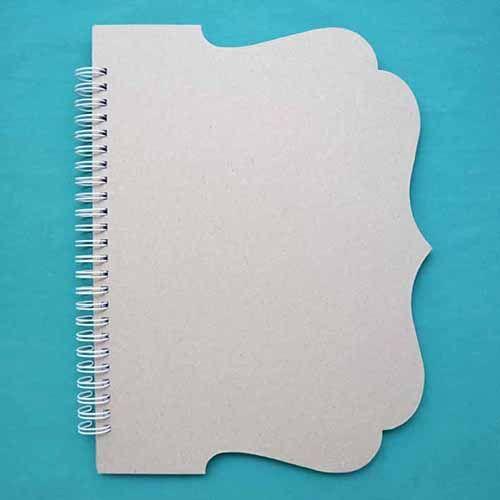 БП003-Б Заготовка для блокнота с фигурной обложкой на белой пружине, А5, 60 листов