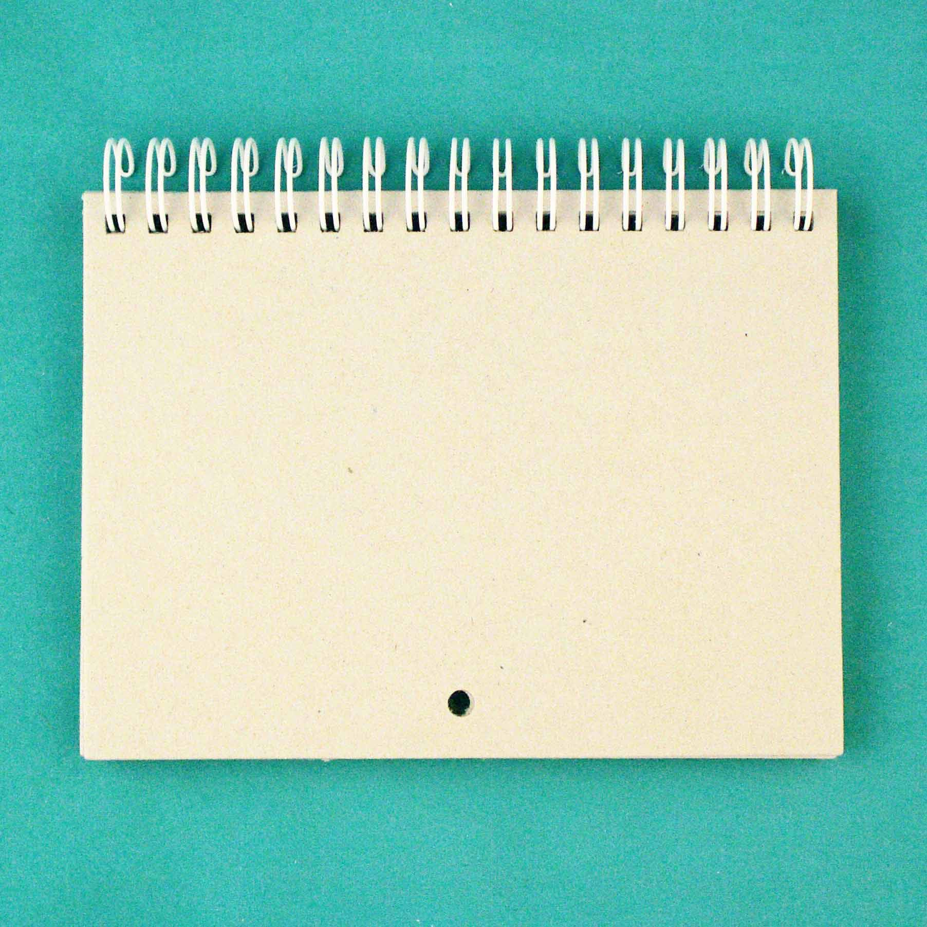 КП001-Б Заготовка для календаря на белой пружине, А6, 7 листов