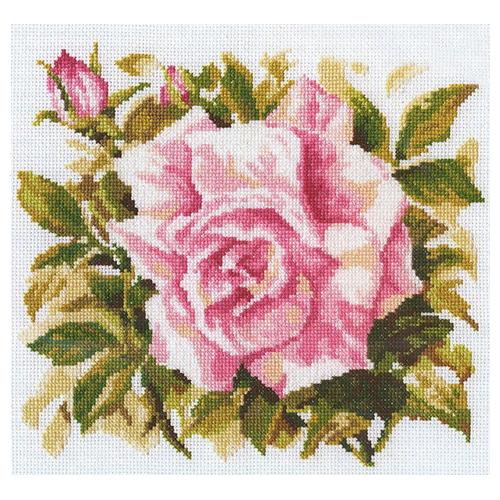 М372 Набор для вышивания RTO 'Роза Грандифлора', 26х26 см