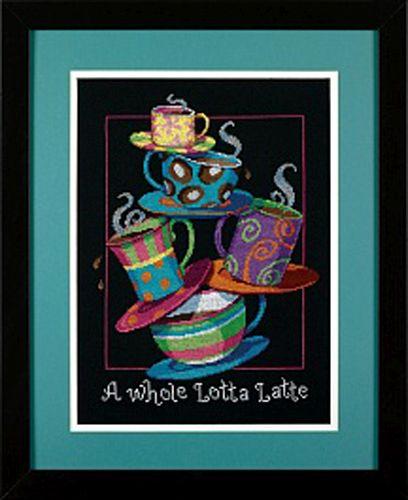 35218-DMS Набор для вышивания Dimensions 'Полные кружки с кофе-латте', 28х36 см
