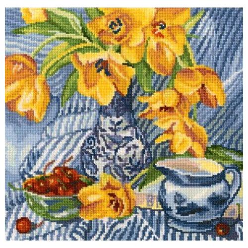 М504 Набор для вышивания RТО 'Натюрморт с тюльпанами', 24х24 см