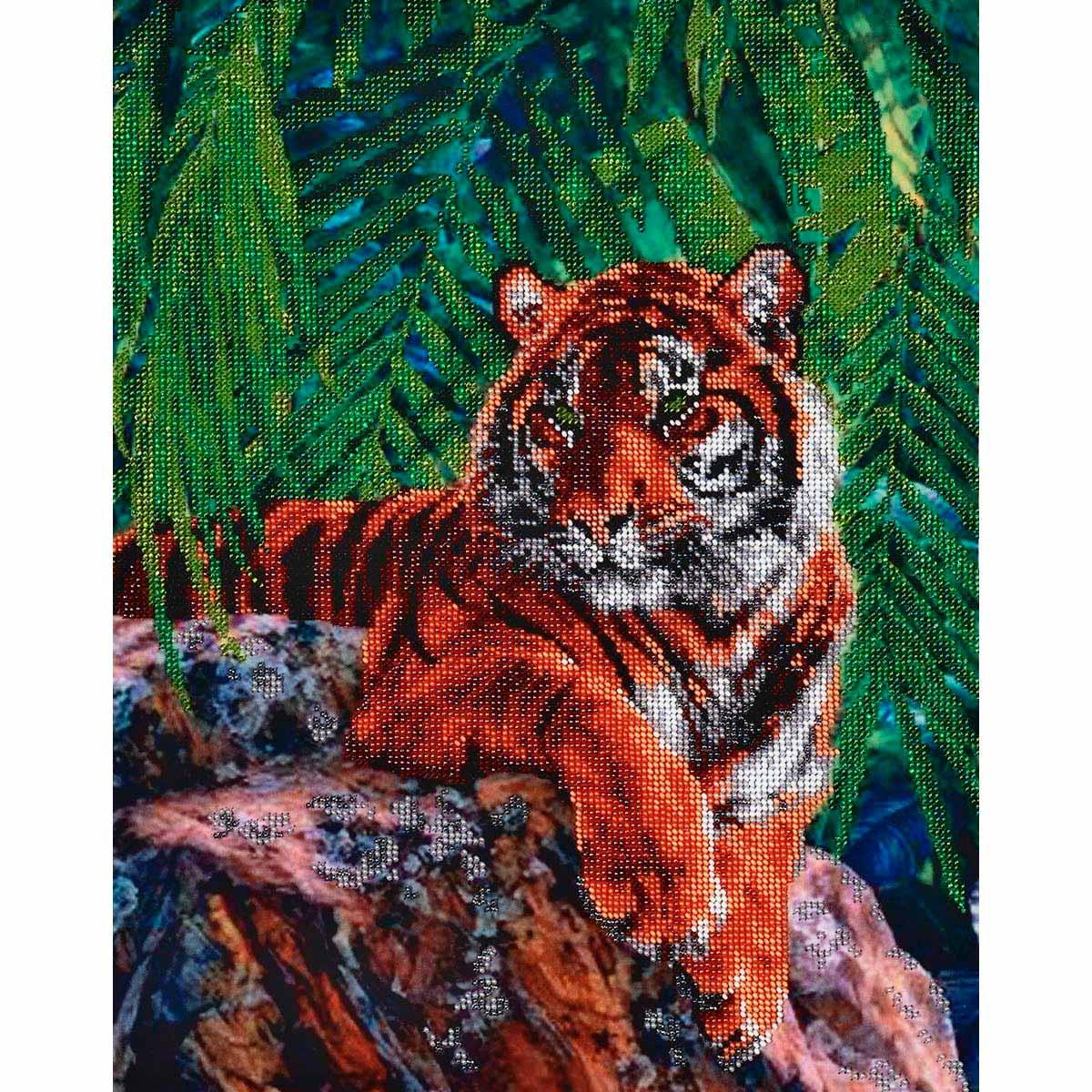 БН-3052 Набор для вышивания бисером 'Тигр' Hobby&Pro 31*40см