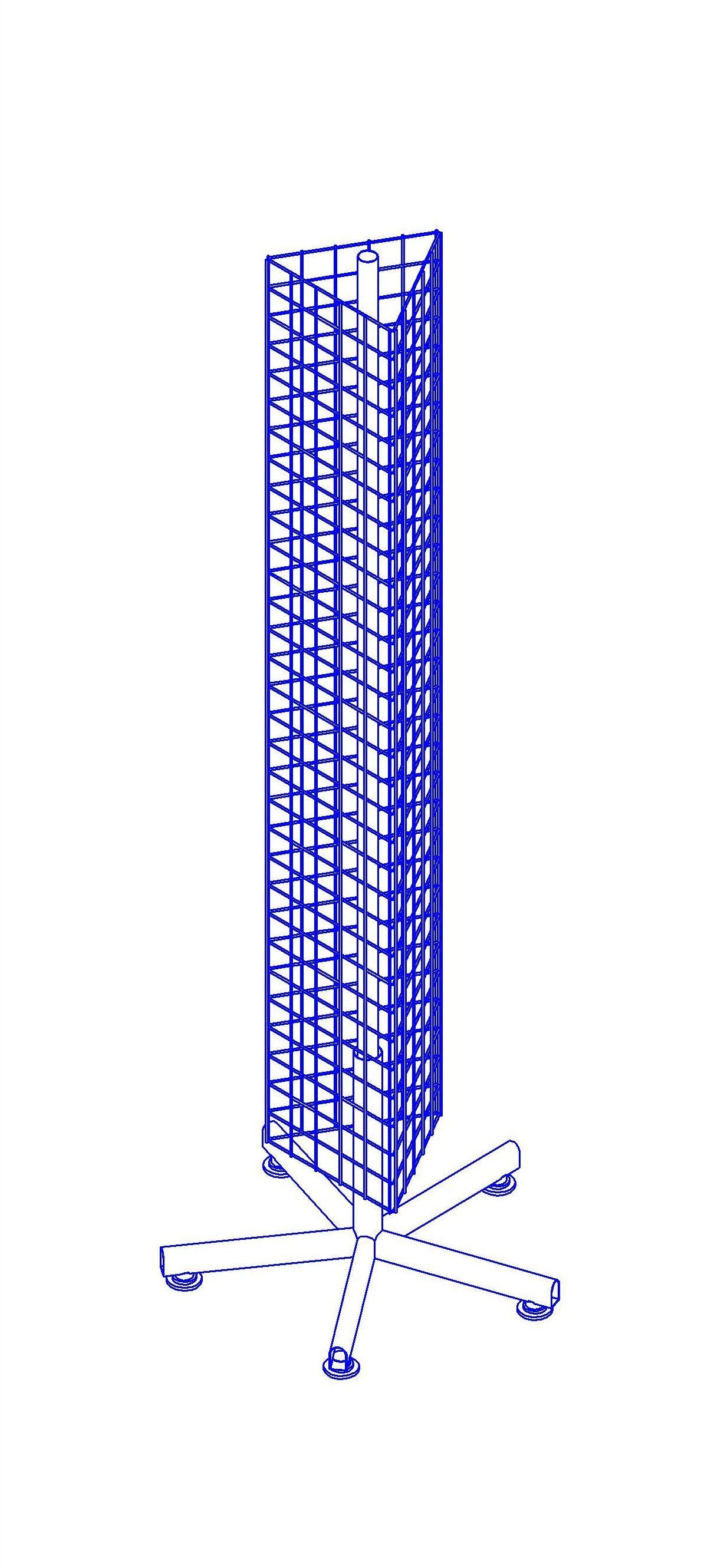Вертушка треугольная 250х250х1750 ВЛ