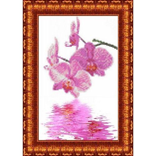 КБЦ-4009 Канва с рисунком для бисера 'Орхидеи', А4