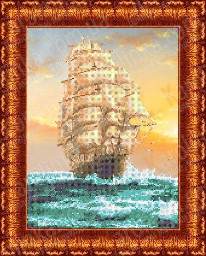 КБП-3018 Канва с рисунком для бисера 'Попутный ветер', А3