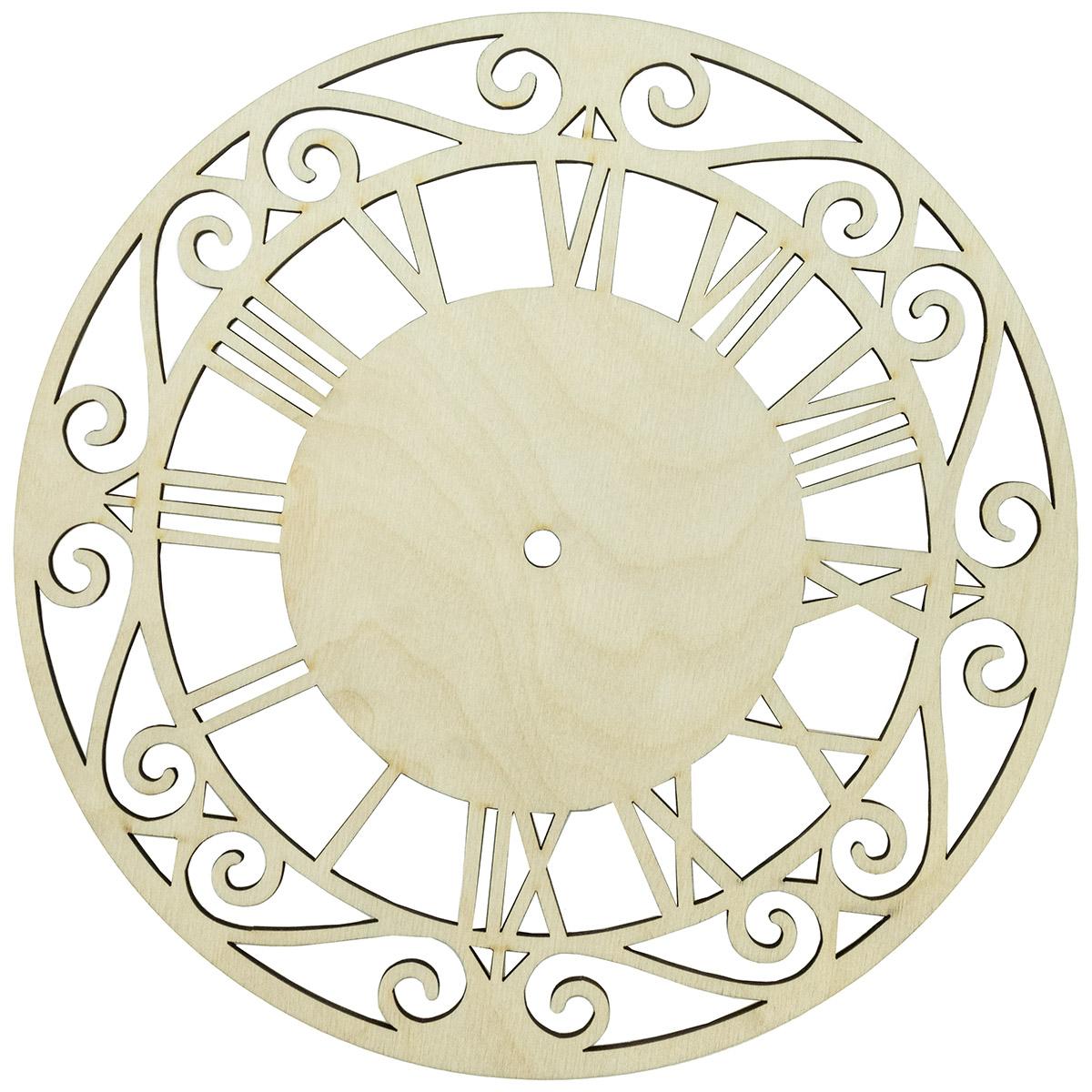 L-325 Деревянная заготовка циферблат 'Римский', 24*24 см, 'Астра'