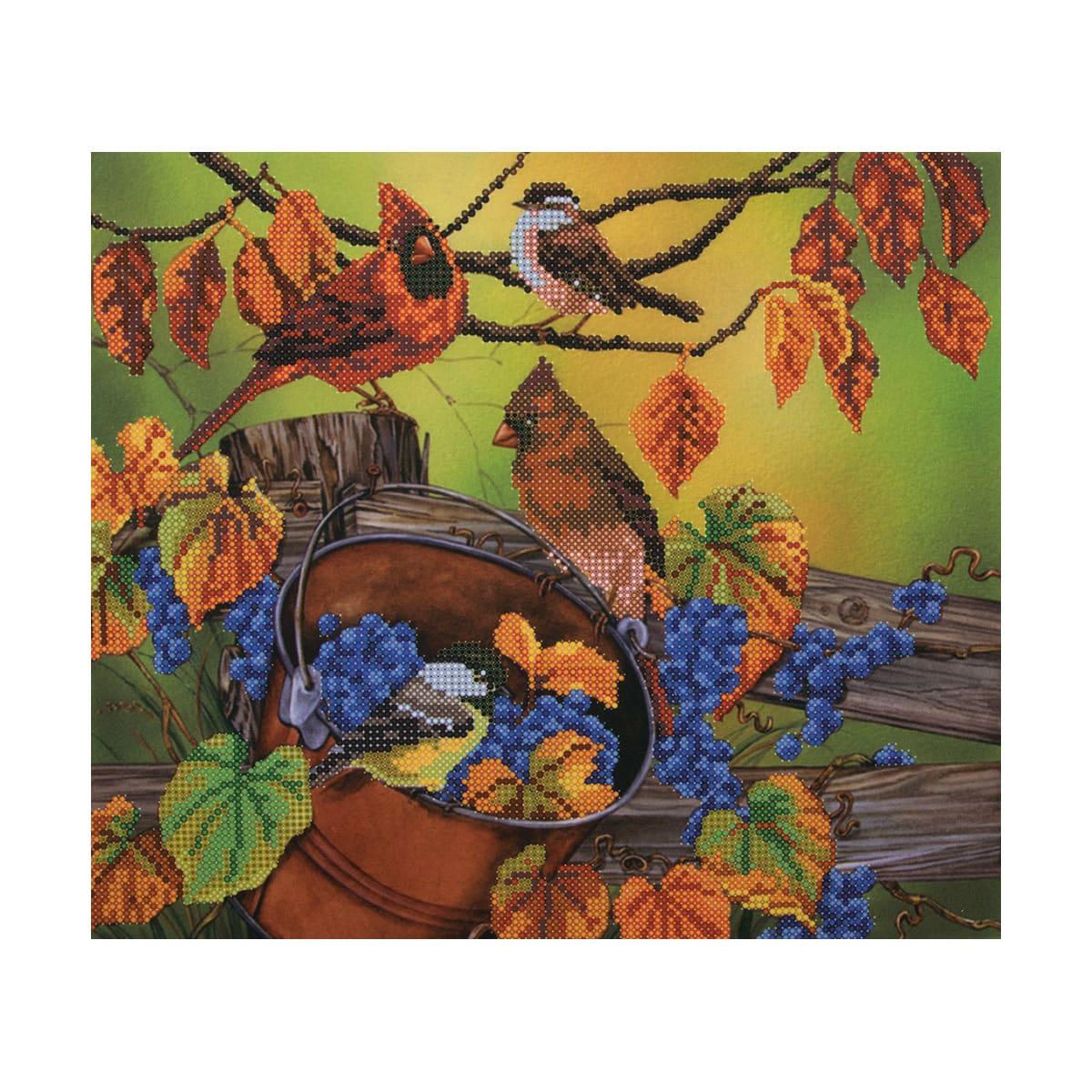 НР-3065 Канва с рисунком для вышивания бисером 'Щедрый урожай' Hobby&Pro 30*26см