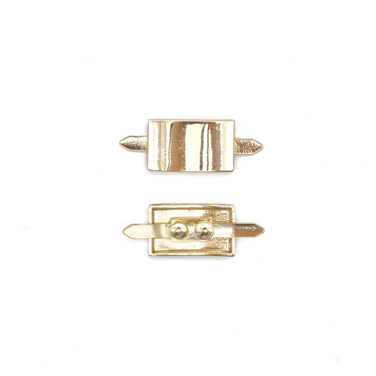 ГНУ13900У Украшение на шипах, золото, 9*15 мм
