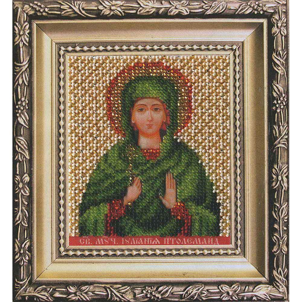 Б-1222 Набор для вышивания бисером 'Чарівна Мить' 'Ик. святая мученица Иулиания Птолемаидская', 9*11 см