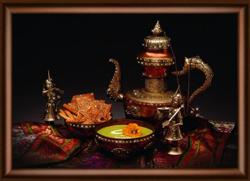 КС1042 Набор для изготовления картины со стразами 'Радушное чаепитие'