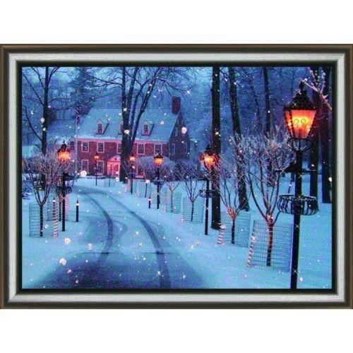 КС1052 Набор для изготовления картины со стразами 'Морозный вечер'