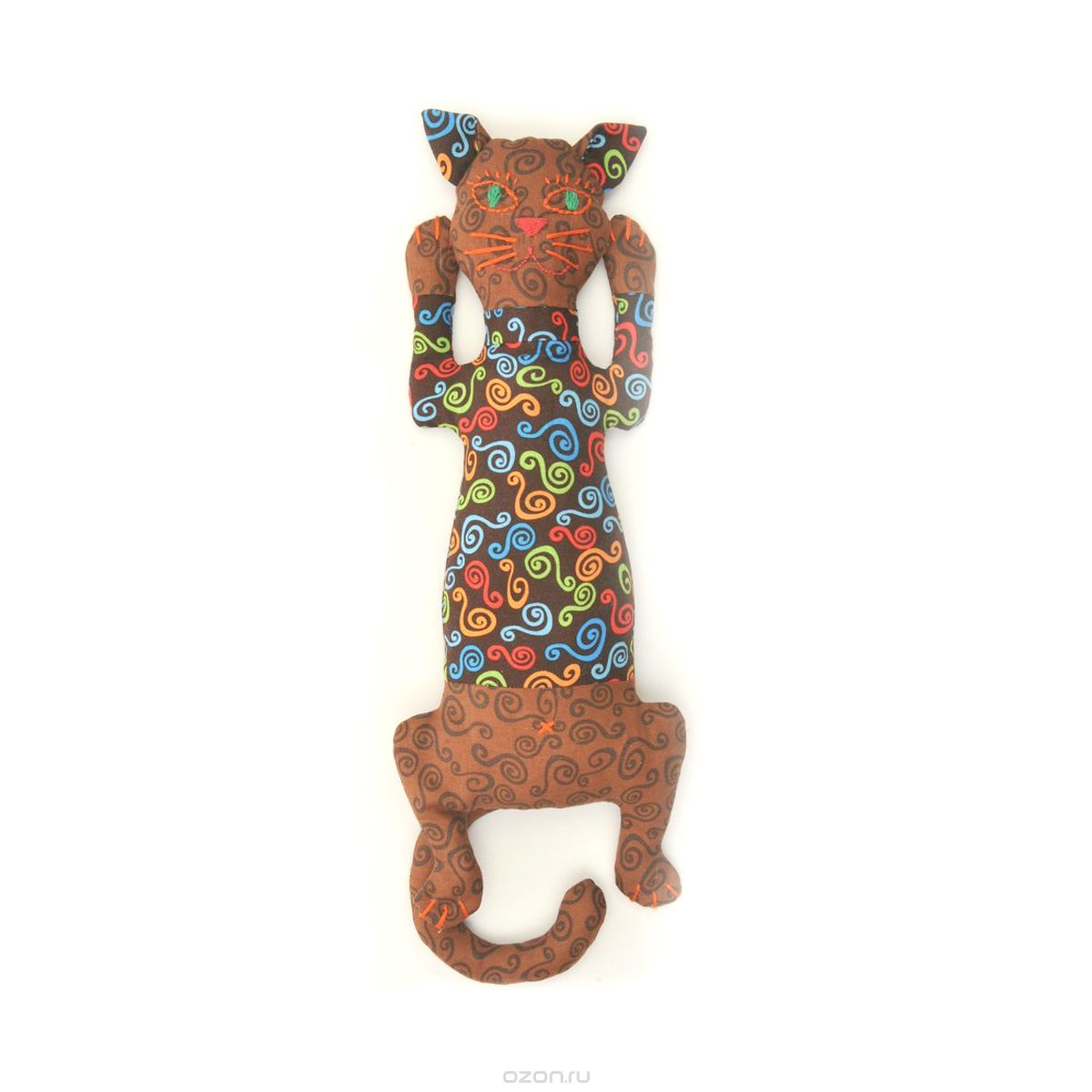КП202 Набор для изготовления текстильной игрушки 'Кот Кофеман', 34,5 см, 'Перловка'