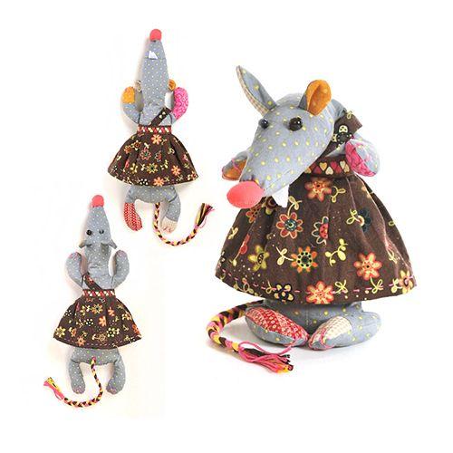 КП206 Набор для изготовления текстильной игрушки 'Кофейная Лариска', 33 см, 'Перловка'
