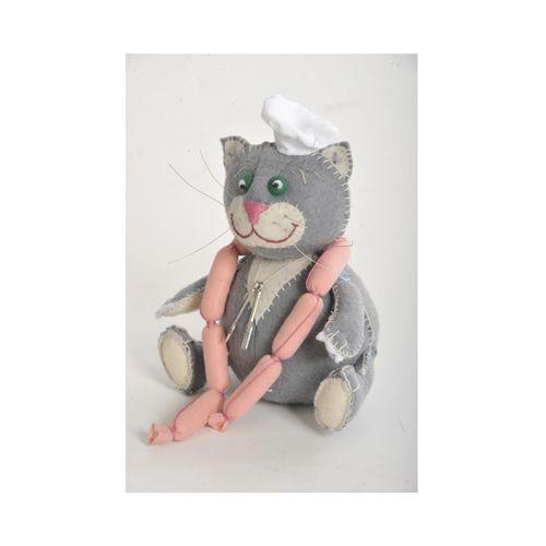 ПФЗД-1004 Набор для изготовления текстильной игрушки 'Кот Обжора', 16 см, 'Перловка'