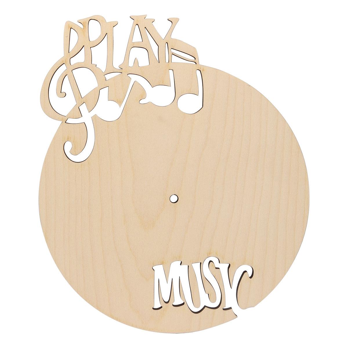 L-337 Деревянная заготовка циферблат 'Play music', 30*24 см, 'Астра'
