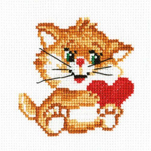 810 Набор для вышивания 'РС-Студия' 'Рыжий котенок', 10*10 см