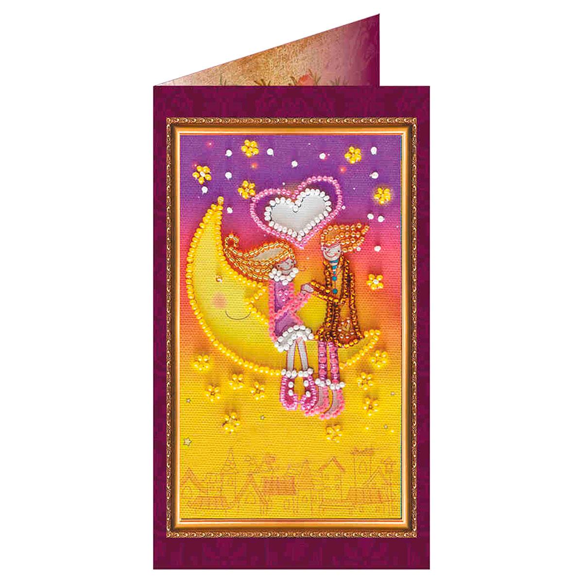 АО-071 Набор-открытка для вышивания 8,4*14см 'С Днем всех влюбленных-2'