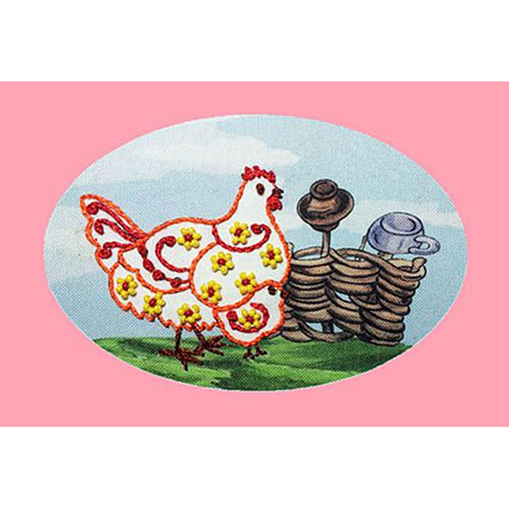 3006 ОТ Набор для вышивания ирисом 'Вышивальная мозаика' 'Курочка', 10*15 см