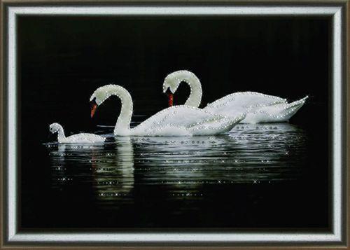 КС1026 Набор для изготовления картины со стразами 'Прогулка по воде'