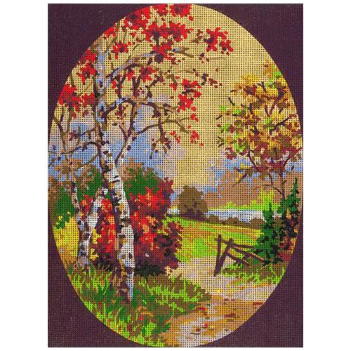 10460-CDA Канва с рисунком Collection D`Art 'Осень' 40*50 см