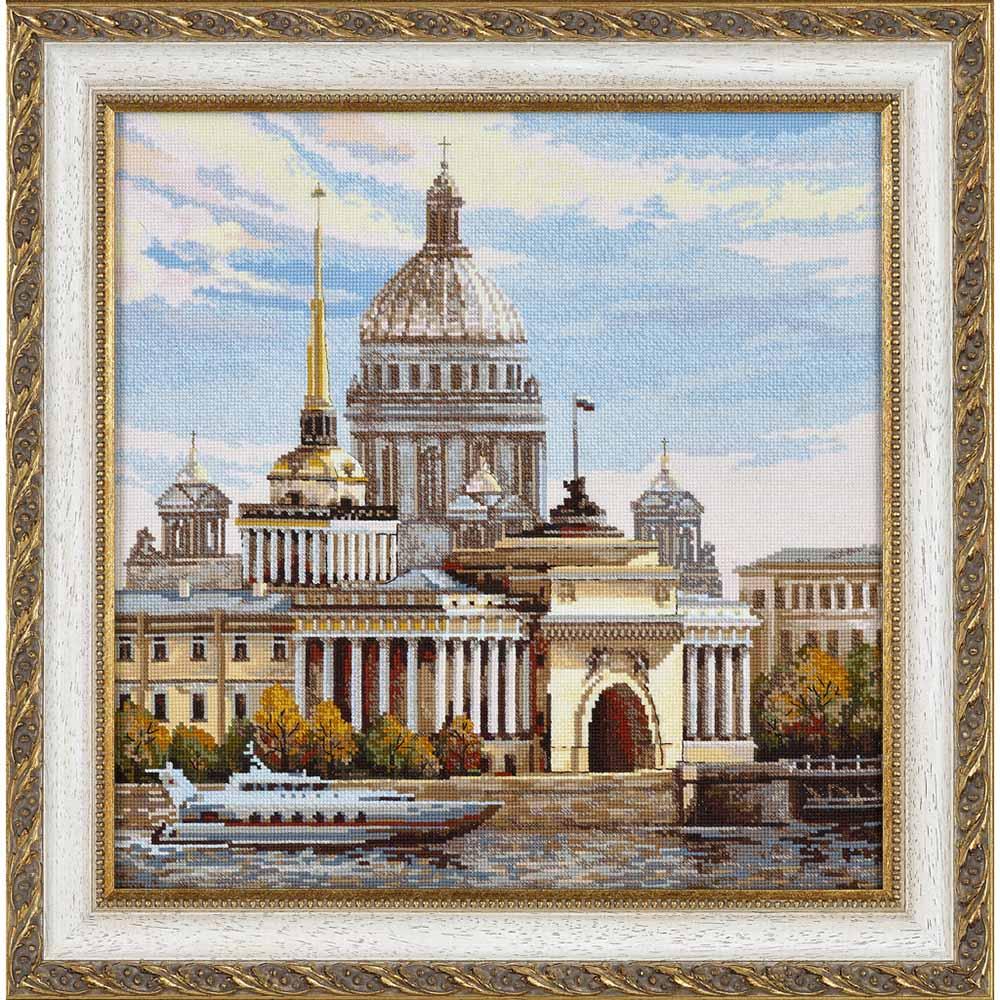 Г-006 Канва с рисунком 'Гелиос' 'Набережная', 43х46 см