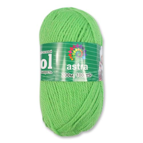 Пряжа 'Астра' 'Wool/Шерсть', 200 м/100 гр., 100% импортная полутонкая шерсть